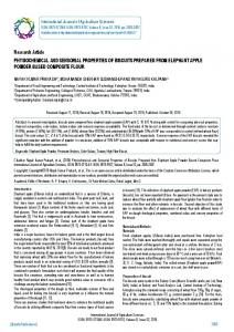 Research Article PHYSIOCHEMICAL AND ...