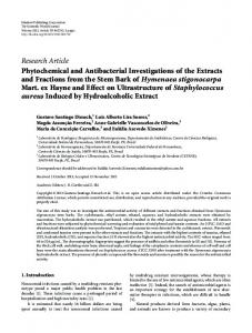 Research Article Phytochemical and Antibacterial ... - ScienceOpen