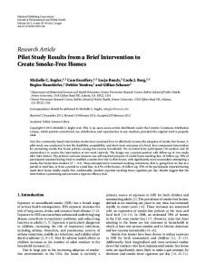 Research Article Pilot Study Results from a Brief ... - BioMedSearch