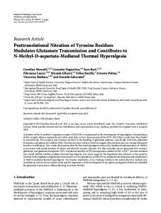 Research Article Posttranslational Nitration of ... - BioMedSearch
