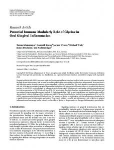 Research Article Potential Immune Modularly Role of ... - ScienceOpen