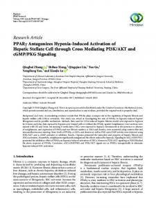 Research Article PPAR     Antagonizes Hypoxia-Induced ... - Hindawi