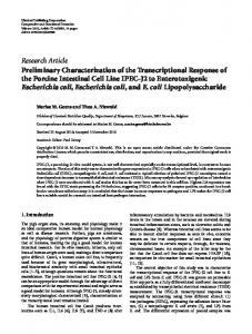 Research Article Preliminary Characterization of the ... - ScienceOpen