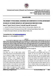 Research Article PRELIMINARY ... - OMICS International