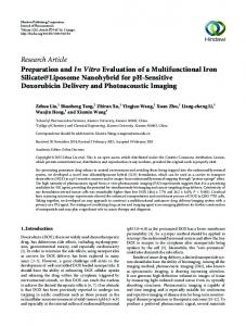 Research Article Preparation and In Vitro Evaluation