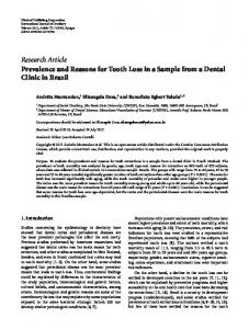 Research Article Prevalence and Reasons for Tooth ... - ScienceOpen