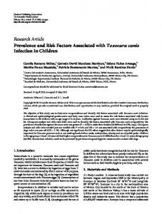 Research Article Prevalence and Risk Factors ... - BioMedSearch