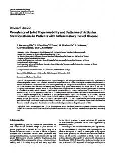 Research Article Prevalence of Joint Hypermobility ... - ScienceOpen