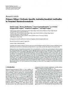 Research Article Primary Biliary Cirrhosis-Specific ... - ScienceOpen
