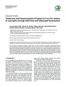 Research Article Production and Characterization of