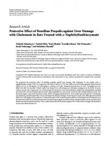 Research Article Protective Effect of Brazilian ...