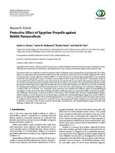 Research Article Protective Effect of Egyptian Propolis