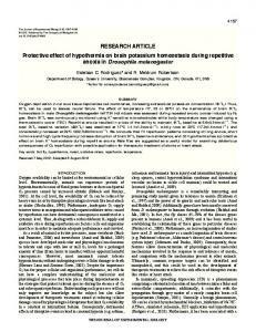 RESEARCH ARTICLE Protective effect of hypothermia on brain