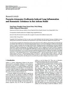 Research Article Puerarin Attenuates Ovalbumin ... - ScienceOpen