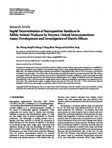 Research Article Rapid Determination of ... - BioMedSearch