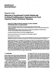 Research Article Reduction of Experimental Cerebral ... - BioMedSearch