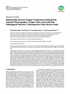 Research Article Relationship between Tongue ...
