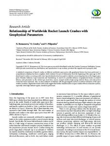Research Article Relationship of Worldwide Rocket ...