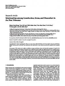Research Article Relationships among Constitution ... - ScienceOpen