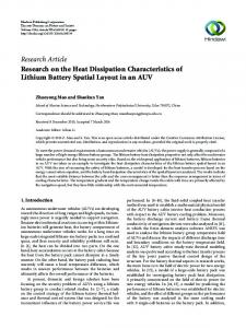 Research Article Research on the Heat Dissipation Characteristics of
