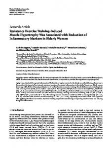 Research Article Resistance Exercise Training ... - ScienceOpen