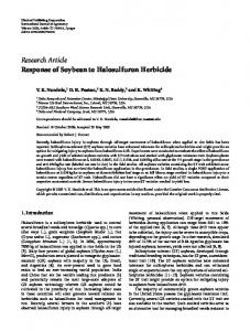 Research Article Response of Soybean to Halosulfuron ... - USDA ARS