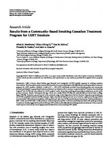 Research Article Results from a Community-Based ... - BioMedSearch