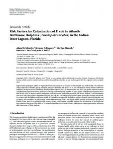 Research Article Risk Factors for Colonization of E ... - BioMedSearch
