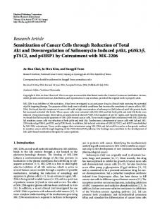 Research Article Sensitization of Cancer Cells ...