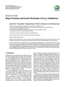 Research Article Shape-Evolution and Growth
