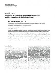Research Article Simulation of Pharyngeal Airway Interaction with Air