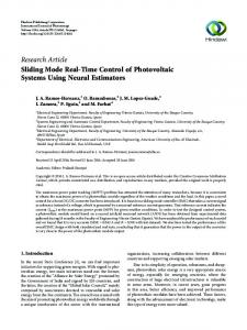 Research Article Sliding Mode Real-Time Control of Photovoltaic ...