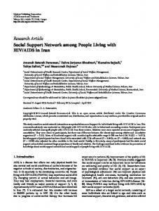 Research Article Social Support Network among ... - ScienceOpen