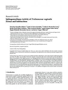 Research Article Sphingomyelinase Activity of ... - BioMedSearch