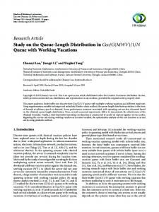 Research Article Study on the Queue-Length Distribution in - Hindawi