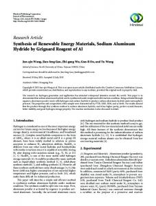 Research Article Synthesis of Renewable Energy