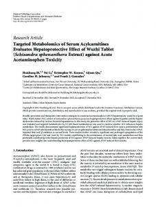 Research Article Targeted Metabolomics of Serum ... - BioMedSearch