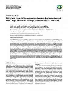 Research Article TGF-     and Hypoxia/Reoxygenation ... - Hindawi