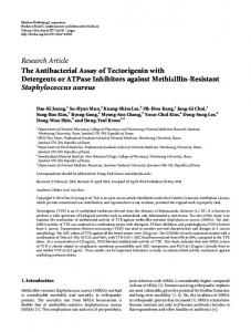 Research Article The Antibacterial Assay of ... - BioMedSearch