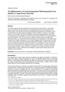 Research Article: The Effectiveness of Lecture-Integrated ... - CiteSeerX