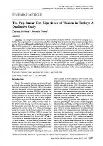 RESEARCH ARTICLE The Pap-Smear Test Experience of Women in ...