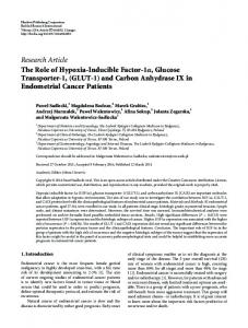 Research Article The Role of Hypoxia-Inducible ...
