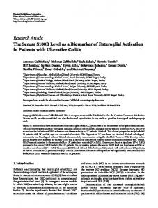 Research Article The Serum S100B Level as a ... - BioMedSearch