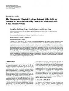 Research Article The Therapeutic Effect of Cytokine ... - ScienceOpen