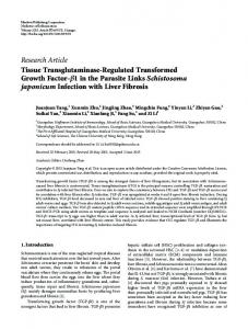 Research Article Tissue Transglutaminase ... - Semantic Scholar