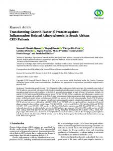 Research Article Transforming Growth Factor-     Protects ... - Hindawi