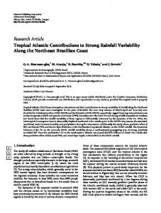 Research Article Tropical Atlantic Contributions to ...