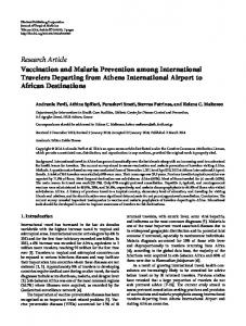 Research Article Vaccination and Malaria Prevention ... - BioMedSearch
