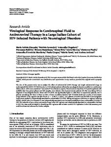 Research Article Virological Response in ... - ScienceOpen