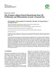 Research Article Zinc Promotes Adipose-Derived ...